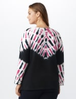 DB Sunday French Terry Tie Dye Knit Top - Red / White / Black  - Back