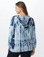 "DB Sunday ""Wine Me Over"" Tie Dye Hoodie - Blue tie dye - Back"