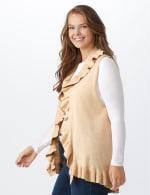 Roz & Ali Ruffle Sweater Vest - Plus - 3