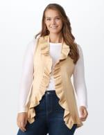 Roz & Ali Ruffle Sweater Vest - Plus - 5