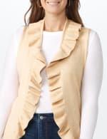 Roz & Ali Ruffle Sweater Vest - Plus - 4
