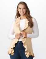 Roz & Ali Ruffle Sweater Vest - Plus - 6