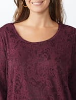 Jacquard Knit Top - Plus - 11