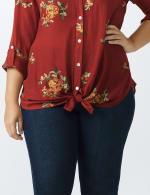 Westport Embroidered Shirt - Plus - 5