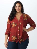 Westport Embroidered Shirt - Plus - 6