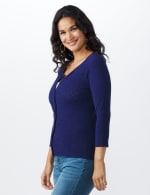 Pointelle Button-Up Cardigan - 3