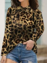 """""""Never Forget Your Mask"""" Animal Print Fashion Top - 1"""