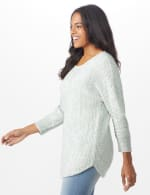 Westport Zig Zag Stitch Curved Hem Sweater - Misses - 9