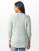 Westport Zig Zag Stitch Curved Hem Sweater - Misses - Pastel - Back