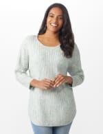 Westport Zig Zag Stitch Curved Hem Sweater - Misses - 12