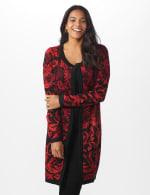 Roz & Ali Jacquard Duster Sweater - Misses - 7