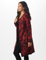 Roz & Ali Jacquard Duster Sweater - Misses - 4