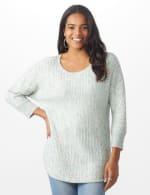 Westport Zig Zag Stitch Curved Hem Sweater - Misses - 11