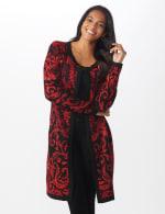 Roz & Ali Jacquard Duster Sweater - Misses - 1