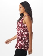 Sleeveless Bouquet Floral Tier Knit top - 5