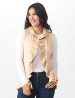Roz & Ali Ruffle Sweater Vest - Misses - 5