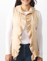 Roz & Ali Ruffle Sweater Vest - Misses - 4