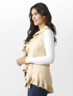 Roz & Ali Ruffle Sweater Vest - Misses - 3