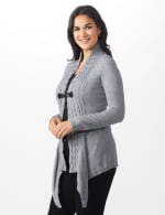 Roz & Ali Cable Front Buckle Cardigan - 3