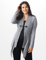 Roz & Ali Cable Front Buckle Cardigan - 5