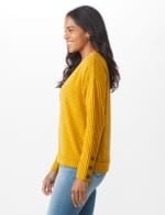 Ribbed Hacci Sweater Knit Top - 3