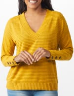 Ribbed Hacci Sweater Knit Top - 4