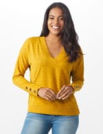 Ribbed Hacci Sweater Knit Top - 5