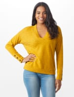 Ribbed Hacci Sweater Knit Top - 6