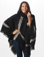 Roz & Ali Plaid Sweater Poncho - 5
