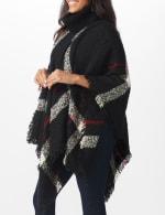 Roz & Ali Plaid Sweater Poncho - 4