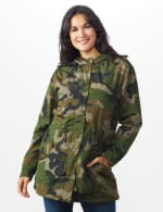 Long Nylon Anorak With Faux Fur Lining - 6