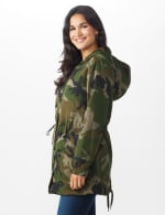 Long Nylon Anorak With Faux Fur Lining - 4