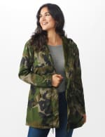 Long Nylon Anorak With Faux Fur Lining - 7