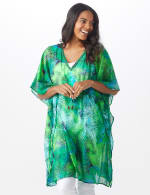 Palm Print Butterfly Cover Up - 6