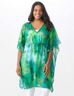Palm Print Butterfly Cover Up - 7