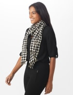 Metallic Houndstooth Wrap - 2