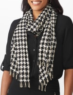 Metallic Houndstooth Wrap - 3