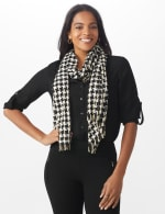Metallic Houndstooth Wrap - 5