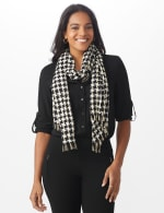 Metallic Houndstooth Wrap - 4