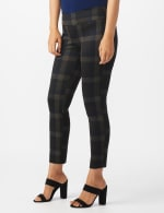 Pull On Plaid  Compression Fit Print Pant - 3