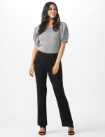 Pull On Flare Leg Pants with Zip Pockets - 5