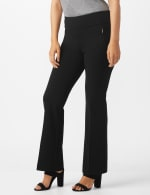 Pull On Flare Leg Pants with Zip Pockets - 3