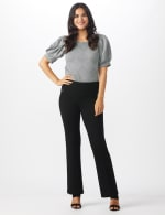 Pull On Flare Leg Pants with Zip Pockets - 6
