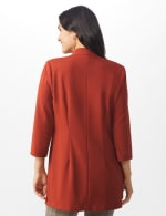 Notch Neck Topper with Side Tab and Buttons - Brick - Back