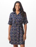 Ditsy Print Shirt Dress - 5