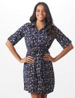 Ditsy Print Shirt Dress - 6