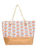 Flamingo Tote Beach Bag - Light Beige - Front