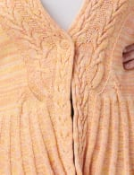 Roz & Ali Marled Button Cardigan - Oatmeal Combo - Detail