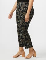 Plus  Roz & Ali Printed Superstretch Pull On Ankle Pant With Slits - 4