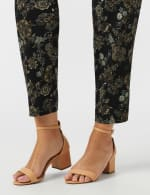 Plus  Roz & Ali Printed Superstretch Pull On Ankle Pant With Slits - 5